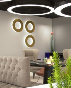 Multifunctional restaurant, lobby, working space in hotel Mooons in Vienna we visualized for Moser Architects. Hotel Interiors, 3d Visualization, Multifunctional, Vienna, Architects, Restaurant, Space, Table, Furniture