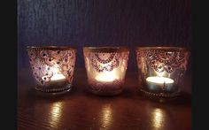 Decorated candleholders