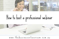 How to host a professional webinar