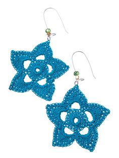 earrings crochet starflowers