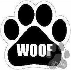 Woof Dog Paw Magnet