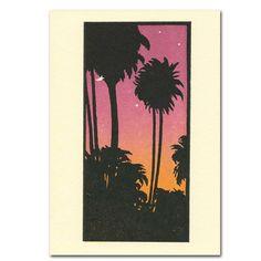 Saturn Press Card - Tropical Dusk
