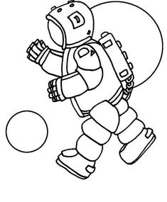 An Astronaut Doing A Space Walk On The Orbit Coloring Page - Download & Print Online Coloring Pages for Free   Color Nimbus Online Coloring Pages, Free Coloring, Walk On, Astronaut, Space, Drawings, Children, Everything, Floor Space