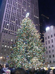 Visit Rockefeller Center, NY at Christmas.