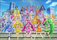 Pretty Cure All Stars New Stage: Mirai no Tomodachi - All of the Cures up to Doki Doki!