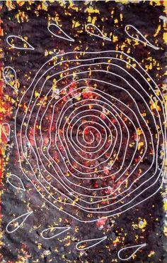 "Saatchi Art Artist sanjay kumar; Collage, ""thread circles"" #art"