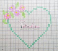 cuore con fiori per bomboniere - schema punto croce Mini Cross Stitch, Cross Stitch Heart, Cross Stitch Kits, Cross Stitch Patterns, Cross Stitching, Cross Stitch Embroidery, Presents For Teachers, Free Graphics, Diy Design