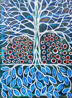 "Saatchi Online Artist: Rebecca Wise Girson; Acrylic, 2013, Painting ""Bearing Fruit"""