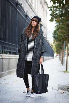 H&M Coat, Vans Snakers, Mango Shirt, Choies Bag
