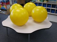 Exercise balls in the classroom on Pinterest