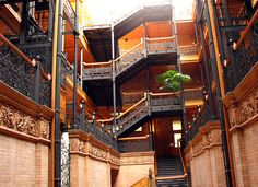 Amazing architectural elements! Bradbury Building, Downtown Los Angeles, CA