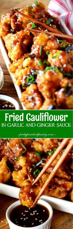 Fried Cauliflower in Garlic and Ginger Sauce Low Carb Recipe Low Carb Recipes. Oct Fried Cauliflower in Garlic and Ginger Sauce
