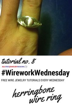 Pretty wire ring tutorial! #WireworkWednesday