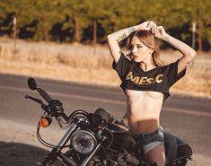 Image may contain: 1 person, motorcycle and outdoor Lady Biker, Biker Girl, Motorcycle Outfit, Motorcycle Girls, Classic Motorcycle, Motorcycle Accessories, Crop Top Bikini, Hot Bikes, Biker Chick