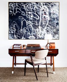 Contemporary Home Office Design Ideas - Search pictures of contemporary home offices. Discover ideas for your trendy home office design with ideas for decor, storage space and furniture. Home Office Design, Office Decor, House Design, Office Art, Office Designs, Library Design, Facade Design, Office Furniture, Exterior Design