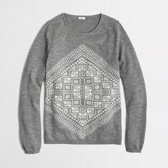 Geometric graphic merino sweater