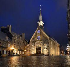 Notre Dame des Victoires, Vieux Quebec City, Quebec, Canada by Pedro Lastra