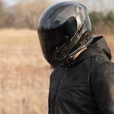 Icon Airflite Gloss Solid Motorcycle Helmet Black