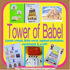 Genesis: Tower of Babel posted with several construction/building printables that can be used for just about any Bible lesson!