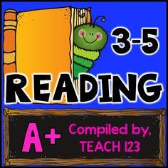 Pinterest board full of reading ideas for 3-5 teachers.