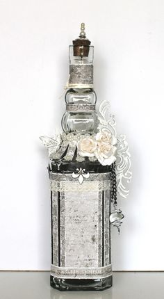 A beautiful glass bottle made by Ingrid.