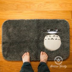 My Neighbor Totoro Inspired Embroidered Bath Mat or by SeamsGeeky