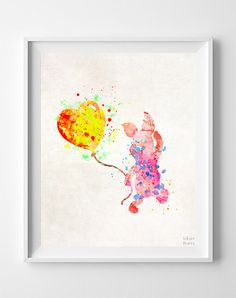 Hey, I found this really awesome Etsy listing at https://www.etsy.com/listing/248003160/piglet-print-pooh-watercolor-art-disney