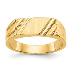Yellow Gold Signet Band Ring Fine Jewelry Gifts For Women For Her Gents Gold Ring, Gold Finger Rings, Pinky Rings, Yellow Rings, Gold Ring Designs, Wedding Rings Vintage, Types Of Rings, Signet Ring, Or Rose