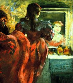 Actress before the Mirror in her Dressing Room / Edgar Degas - 1879