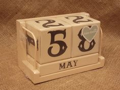 Cream Wooden Calendar Blocks, £11.95 Wooden Calendar, Shabby Chic Style, Inspired Homes, Home Decor Items, Vintage Inspired, Rustic, Cream, Food, Country Primitive