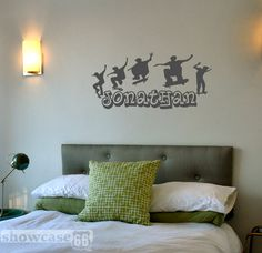 Personalized Skateboarding - Vinyl Wall Art - FREE Shipping - Fun Urban Wall Decal. $25.00, via Etsy.