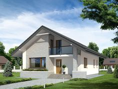 New model bilded with strong material House Plans Mansion, Craftsman House Plans, Modern Bungalow House, Modern House Plans, Style At Home, Conch House, Driveway Design, Tuscan House, Modern Farmhouse Exterior