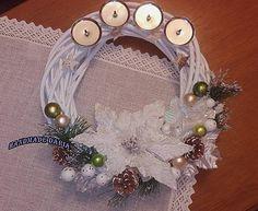 DariaHandmade / Vianočný adventný venček :)