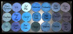 MAC eyeshadows: Blues palette