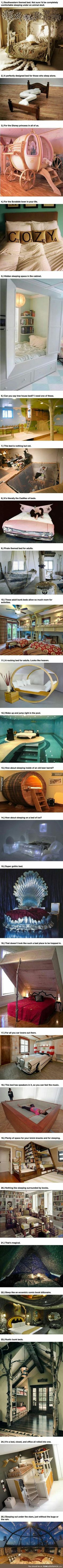 Warning These 25 Amazing Beds Will Make You Wish It Was Nap Time is part of Cool beds - More memes, funny videos and pics on Dream Rooms, Dream Bedroom, Room Decor Bedroom, Bed Room, Bedroom Ideas, Bed Ideas, Awesome Bedrooms, Cool Rooms, Cool Beds