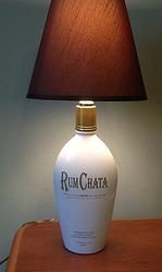 Rum Chata Recycled Bottle Lamp. Visit link does not work. Lamps by lamps has no rum chata bases.