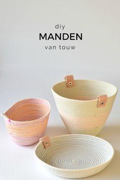 De Zuster Van: DIY: EENVOUDIGE MANDJES VAN TOUW