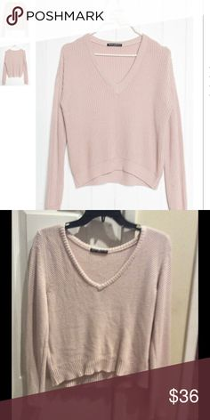 Brandy Melville light pink knitted sweater Worn once perfect condition:) Brandy Melville Other