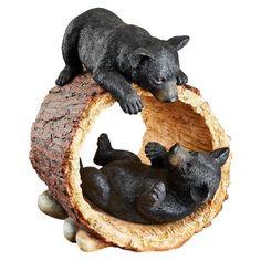 Rough Play Bear Cubs Garden Statue