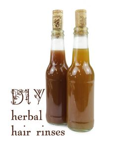 Just say NO to chemicals! Healthy, herbal hair rinses.
