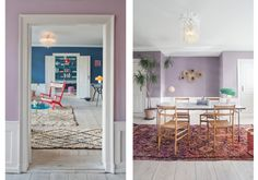 Lilac walls at The Apartment gallery in Copenhagen Room Inspiration, Interior Inspiration, Lilac Walls, H & M Home, Dream Decor, Dream Rooms, Scandinavian Interior, Unique Home Decor, Apartment Design