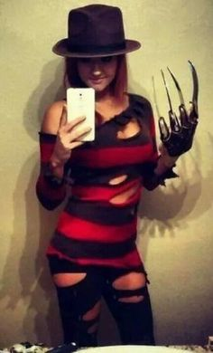 Favorite horror movie slasher (i will be fred krueger) hopefully come up with work friendly glove or nails or rings something diy
