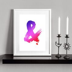 Colorful Ampersand. Printable and decorative wall by Cartelmania
