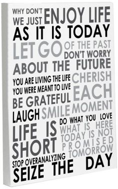 Bentin Home Décor Enjoy Life Today Gallery Wrapped Canvas Artwork, 16 by 20-Inch by Bentin Home Décor, http://www.amazon.com/dp/B00D4O0DQA/ref=cm_sw_r_pi_dp_56ubsb198FCDW