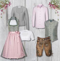 Eine traumhafte Kombination in Lindgrün und Rosa - passend für Sie und Ihn