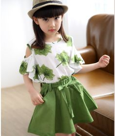 summer children clothing maple skirt sports girls clothing set 2019 new print skirt suit years old baby clothes Wholesale Clothing Online Store. We Offer Top Good Quality Cheap Clothes For Women And Men Clothing Wholesaler, # Baby Outfits, Girls Summer Outfits, Dresses Kids Girl, Summer Girls, Kids Outfits, Little Girl Skirts, Girls Wear, Fashion Kids, Fashion Clothes