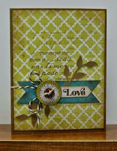 card by Lynn Darda using CTMH Skylark paper