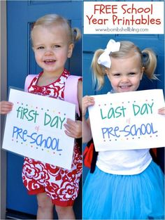FREE Last Day of School Printables (with matching First Day of School ones as well!)