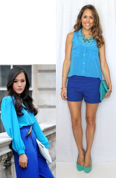 J's Everyday Fashion: Today's Everyday Fashion: Bright Blues