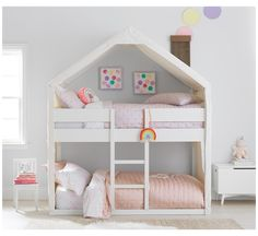 Bunk Beds For Girls Room, Low Bunk Beds, Toddler Bunk Beds, Bunk Bed Rooms, Bunk Beds With Stairs, Kid Beds, Girls Bedroom, Bunk Beds For Toddlers, Bunk Bed Tent